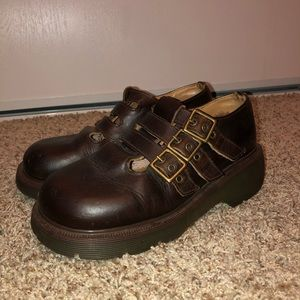 Rare vintage brown doc marten Mary Janes